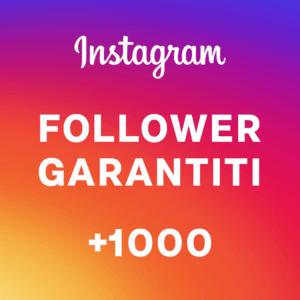 +1000 follower garantiti Instagram