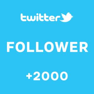 +2000 Follower Twitter