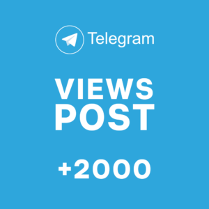 +2000 Views post Telegram