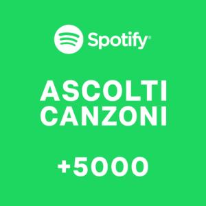 +5000 Ascolti canzoni Spotify