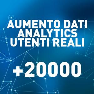 +20000 Aumento Dati Analytics – Utenti reali
