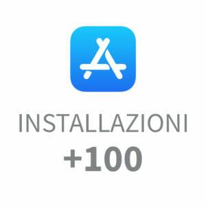 +100 installazioni App Store