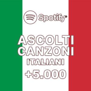 +5000 Ascolti italiani canzoni Spotify